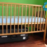 Patut din lemn ptr copii + saltea Bio - Cocos! - Patut lemn pentru bebelusi
