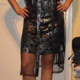 Rochie de seara scurta, Fuchsia, Dantela