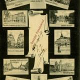 Cluj - 1906 - Multiview - Circulata - Udvozlet Kolozsvarvol