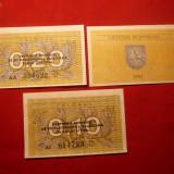 Set 3 Bancnote LITUANIA 1991, val.0, 1 ;0, 2 ;0, 5, cal.NC
