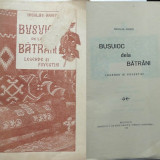 Carte Editie princeps - Nicolae Arges, Busuioc dela batrani, Legende si povestiri, 1924