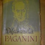Defaimarea lui Paganini - A. Vinogradov - Carte Editie princeps