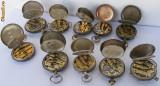 10 ceasuri de buzunar vechi din argint defecte - de colectie