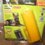Dispozitiv cu ultrasunete pentru autoaparare, dresat si aungat caini cu lanterna