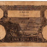 * Bancnota 100 lei 1931 - MARTIE