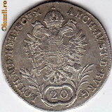 Austria 20 Kreuzer 1803 A,argint Franz II. XF/a.UNC,moneda DE COLECTIE