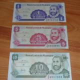 Bancnota Straine - Lot 3 bancnote Nicaragua 1 centavo, 5 si 10 centavos UNC necirculate