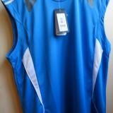 Tricou barbati Adams, S, Fara maneca, Albastru - Tricou ADIDAS climalite original SUPER PRET PRET REDUS cu 25%