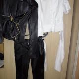 Costum saten sacou pantalon si camasa maneca scurta mas 36-38 superb - Costum dama
