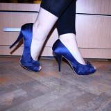 Pantofi Zara - Pantof dama, Marime: 38, Culoare: Bleumarin, Bleumarin