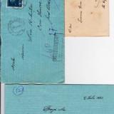 PLIC 2TIMBRATE 1 PT.LIA MIHUTIA GHIOROC/ARAD 1941 CENZURAT, SI 1 PT TIMISOARA 19.. -OCPP 133 - Plic Papetarie