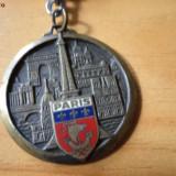 Breloc paris metal - Metal/Fonta