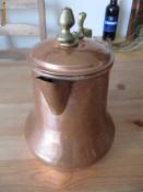 ceainic arabesc din cupru si alama, h=21cm foto