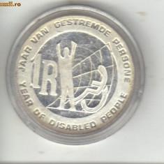 Bnk mnd africa de sud 1 RAND 1986, moneda de argint