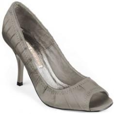 Sanda gri saten (107-12121 TAUPE ) BUFFALO- REDUCERE EXCEPTIONALA DE PRET - Sandale dama Buffalo, Marime: 37, 38, 39, 40