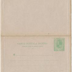 CFL 1895 ROMANIA Carte postala inchisa SPIC de GRAU 5b verde, Inainte de 1900
