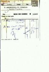 Hartie cu Antet - Doc.14- P.Andreescu Fii, Craiova -Sectia Fierarie -1933