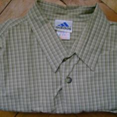 Camasa barbati Adams Adidas, cadrilata, olive, logo maneca, masura L, L