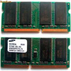 Memorie Laptop 512Mb SDRAM PC133 Samsung 2x 256Mb SO-DIMM Memory Kit - Memorie RAM laptop