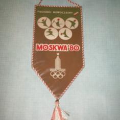 63 Fanion - MOSKWA `80 (PENTATLON -POLONIA-OLIMPIADA)