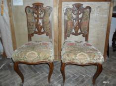 Mobilier - Pereche scaune vechi - 2