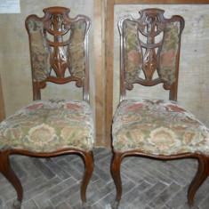 Mobilier - Pereche scaune antice, vechi - 2 bucati