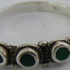Inel vechi din argint cu pietre (1) - de colectie - Inel argint