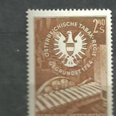 Timbre straine - Austria 1959 - TUTUN, MASINA DE TIGARI, timbru MNH B254