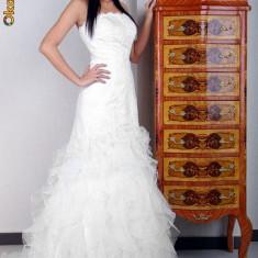 Rochie de mireasa ANGELO cu trena si accesorii - Rochie de mireasa printesa