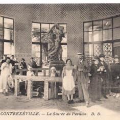 Carte postala-CONTREXEVILLE-La Source du Pavillion D.D. anul 1926