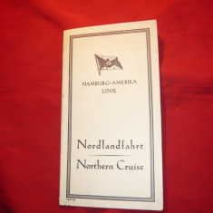 Ghid Turistic -Harta -Linia Navala Hamburg-America Line - Harta Germaniei