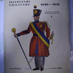 INCEPUTURI EDILITARE 1830-1832 -Documente pentru istoria Bucurestilor -1936 - Carte Editie princeps