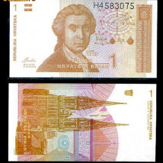 CROATIA- 1 DINAR 1991- UNC! - bancnota europa