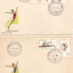 FDC-L.P. 616-SPARTACHIADA 1965-PRIMA ZI