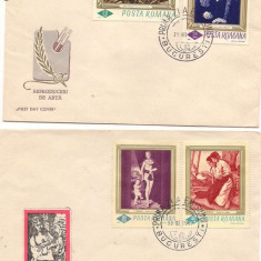 F.D.C- REPRODUCERI DE ARTA-PRIMAZI, Dupa 1950