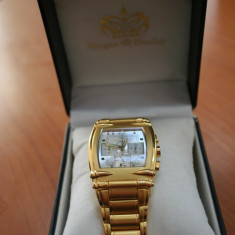 Ceas barbatesc - Ceas Morgan&Headley cronograf - placat cu aur