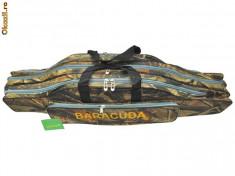Geanta ( Husa) lansete 3 compartimente BARACUDA New Camouflage 90cm B9