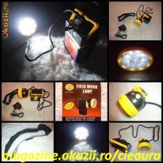 LANTERNA FELINAR FAR LAMPA FRONTALA MANER pentru CASA PESCUIT VANATOARE CAMPING 9 LED-uri ACUMULATOR