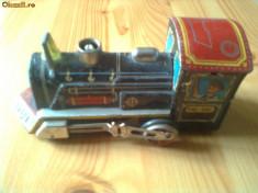 Macheta Feroviara - Locomotiva din tabla jucarie china