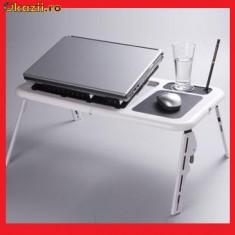 Masa Laptop - MASA PLIABILA LAPTOP CU COOLER, MOUSEPAD SI SUPORT PAHARE, VAZUT TV