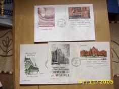 Timbre straine - SUA 1978 muzica 3 carti postale