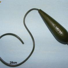 Plumb ECO Oliva 120gr cu tub anti tangle de 28cm - Plumbi Pescuit
