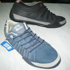 Pantofi barbati WINK; cod FJ133-4(albastru); FJ133-3(negru); FJ133-2(marou), Marime: 45, 46, Piele sintetica