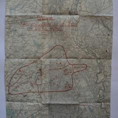 Harta veche militara austro-ungara Italia originala 1918 primul razboi mondial, operativa Imperiul Austro-Ungar, Habsburgic, KuK, K. u. K. WW1 WWI