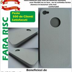Husa iPhone 4 / 4S Mesh Alba Case material dur Calitate excelenta !!!LICHIDARE DE STOC!!!