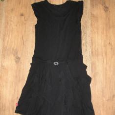 SUPER PRET ! Superba rochie ESCADA autentica bumbac fin elastic Sz S! - Rochie de seara Escada, Marime: S, Culoare: Negru, Midi, Fara maneca