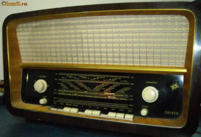 radio vintage anii 60 , pe lampi , tuburi foto
