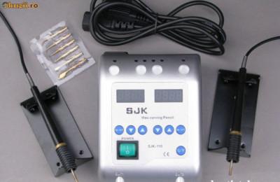spatula electrica, cutit  ceara, tehnica dentara foto