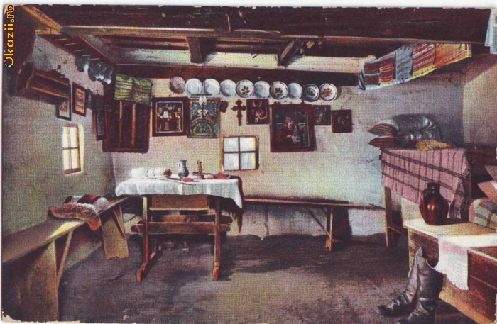 Postale Romania 19041918  1217  Interior casa taraneasca  unused