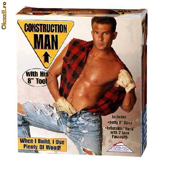 Construction Man Sex Doll Two love passages and includes hefty 8 inch